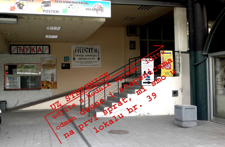 Zgrada u kojoj se nalazimo - Zdravka Čelara 12, prvi sprat, lokal 39, 11060 Beograd (Palilula)